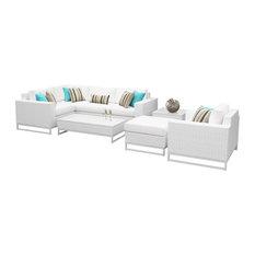 Key Largo 8-Piece Outdoor Wicker Patio Furniture Set
