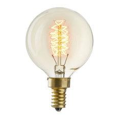 Baltic G16.5 Globe Vintage Candelabra Edison Bulb, E12, Set of 4