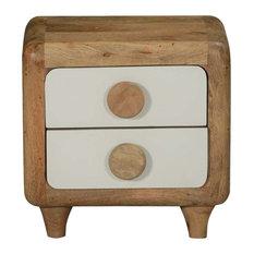 Hatboro Natural Mango Wood 2 Drawer Nightstand