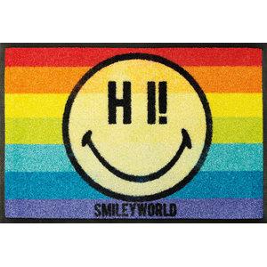 Smiley Rainbow Door Mat, 60x40 cm