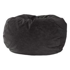 GOLD MEDAL® Bean Bag, Microsuede, Extra Small, Black, Medium