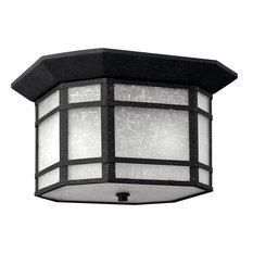Cherry Creek 2 Light Outdoor Ceiling Light in Vintage Black