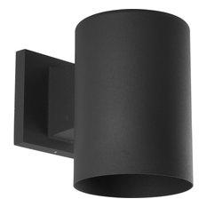 Progress Lighting 1-Light Wall Lantern Metal Shade, Black
