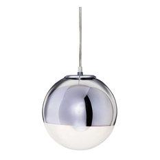 Mirror ball pendant lighting houzz import lighting funiture mirror ball pendant lamp chrome large pendant lighting aloadofball Choice Image