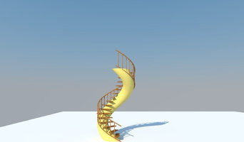 freestanding staircase, no post