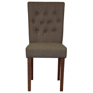Flare Back Slate Shade Upholstered Dining Chairs, Set of 2