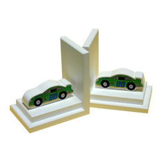 Stock Car Bookends