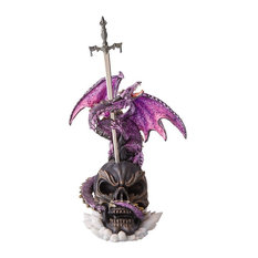 Savage Sabre Gothic Dragon Statue