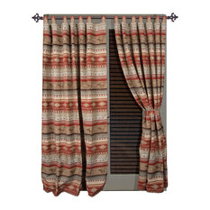 Flying Horse Western Striped Drape Curtain Set