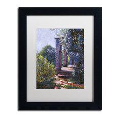 "David Lloyd Glover 'Climbing Roses' Art, Black Frame, 11""x14"", White Matte"