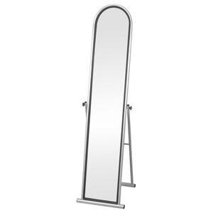VidaXL Free Standing Floor Mirror, Grey, Full Length Rectangular