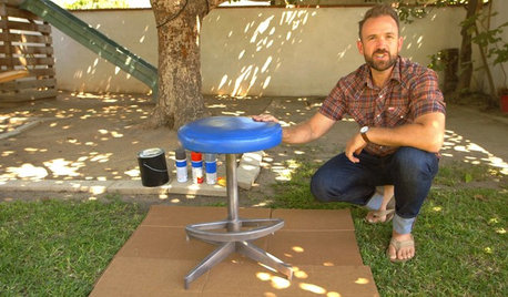 Houzz TV: How to Make Over a Thrift Store Stool