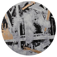 Abstract City Round Wall Decor