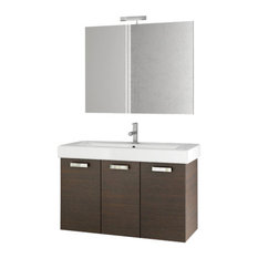 "40"" Wenge Bathroom Vanity Set"