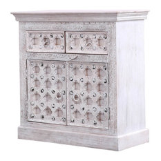 Narrogin Rustic Solid Wood 2 Drawer Traditional Sideboard Cabinet