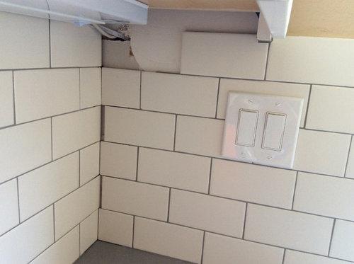 Bad Subway Tile Job Please Advise