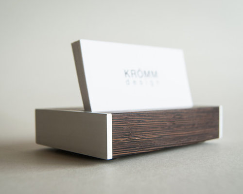Business card stand wenge wood and aluminum colourmoves
