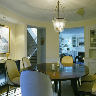 Dining room - shabby-chic style dining room idea in Portland Maine