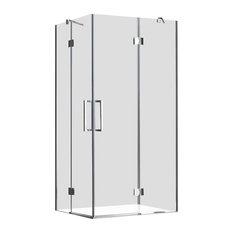 London Rectangular Frameless Shower Enclosure, 70x90 cm