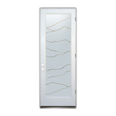 Glass Front Entry Door Sans Soucie Art Glass Abstract Hills