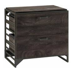 Refinery 2 Drawer Lateral File Cabinet in Dark Gray Hickory - Engineered Wood