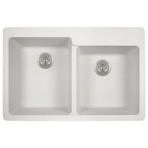 32 Quot Drop In Double Bowl Granite Composite Kitchen Sink