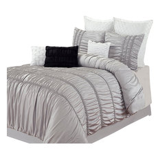 Romantica Silver King 5-Piece Comforter Bed In A Bag Set