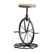 GDF Studio Charles Bicycle Wheel Adjustable Bar Stool