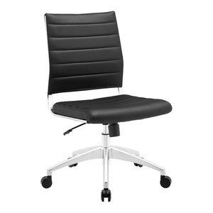 Jive Armless Mid Back Office Chair, Black