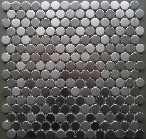 15 00sf Stainless Steel Penny Round Metal Mosaic Tile More Info