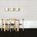 """Woven Trellis Wallpaper, Silver, 25""""x8.5' - """"Swag Paper - Empowering the Do-It-Yourselfer:"""