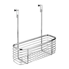 iDesign Axis Over the Cabinet Basket, Small, Chrome