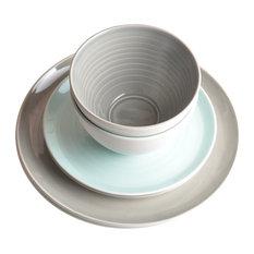 Tactile Porcelain Dinner Set, Multicoloured