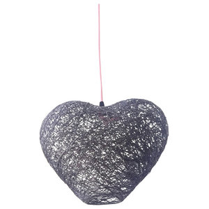 Heart Ceiling Lamp, Grey, Small