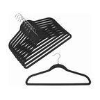 Slim-Line Black Shirt or Pant Hanger, Set of 20
