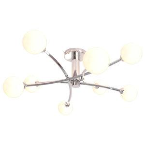 Bombo 8-Light Ceiling Light, Polished Chrome