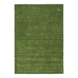 Gabbeh Wool Rug, Green, 160x230 cm