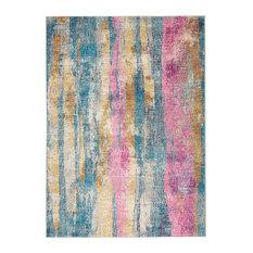 """Nourison Passion Area Rug, Gray and Multicolor, 5'3""""x7'3"""""""