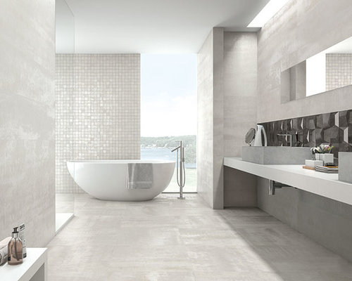 Bathroom Tiles - Metallic bathroom tiles