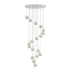 Draplin 18-Light Chandelier Chrome Seeded Crystal