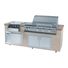 "36"" Natural Gas Grill, Double Sided Burner With Searmagic Cooking Grids"