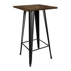 Industrial Black Pub And Bistro Tables