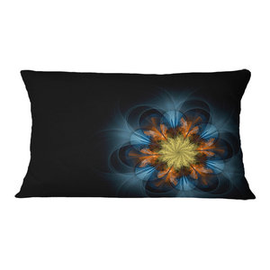Sofa Throw Pillow 16 X 16 Designart Cu16476 16 16 Dark Orange Symmetrical Flower Abstract Cushion Cover For Living Room Insert Printed Home Kitchen Bedding