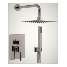 Aquamoon Tetra Single Lever Ceramic Shower Rough-In With Hand Shower, Brushed Ni