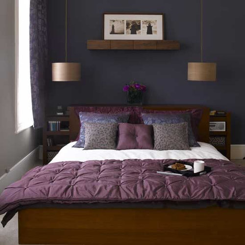 Purple And Gold Bedroom