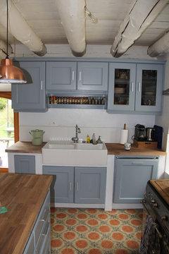 voici la cuisine repeinte dun houzzienne pour vous inspirer - Cuisine Repeinte En V33 Gris