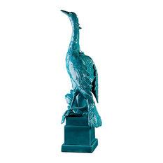 Ceramic Heron Sculpture