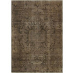 Rugknots - Brown/Gray Overdyed Rug, 6x9 Rectangle - Collection: Vintage