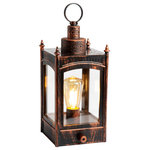 """American Direct - Paul Revere Vintage Lantern - Authentic replica of the North Church Lantern that signaled, """"The British are coming! """" Relive the most famous ride in American history of the hero, Paul Revere. Uses 3 C size batteries (not included)."""