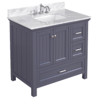 "Paige 36"" Bathroom Vanity, Charcoal Gray"
